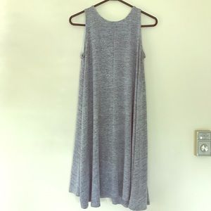 Flowy boho grey summer dress